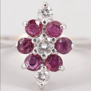 14K white gold ruby diamond ring heat treatment